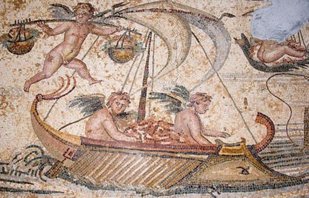 Erotes mosaic